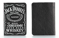Обложка на паспорт из мягкой кожи Jack Daniel's (Джек Дениелс)