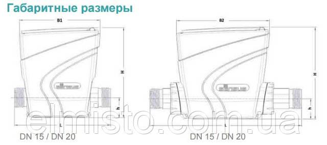 Габаритные размеры водосчетчика Sensus iPERL