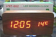 Часы электронные VST-862 (красная подсветка, дата, температура, день недели), фото 1