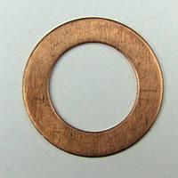 Шайба плоская М32х38х1,5 медь, фото 1