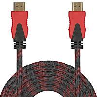 Кабель мультимедийный Lesko HDMI/HDMI 10 m шнур универсальный hd видео для компьютера телевизора в оплетке