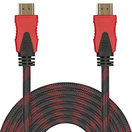 Кабель мультимедийный Lesko HDMI/HDMI 10 m в оплетке, фото 2