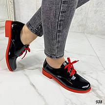 Туфли женские лакированные черные, фото 3