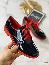 Туфли женские лакированные черные, фото 2