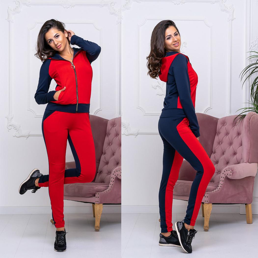 8008-03 червоний спортивний костюм жіночий (42-48, 4 од.)