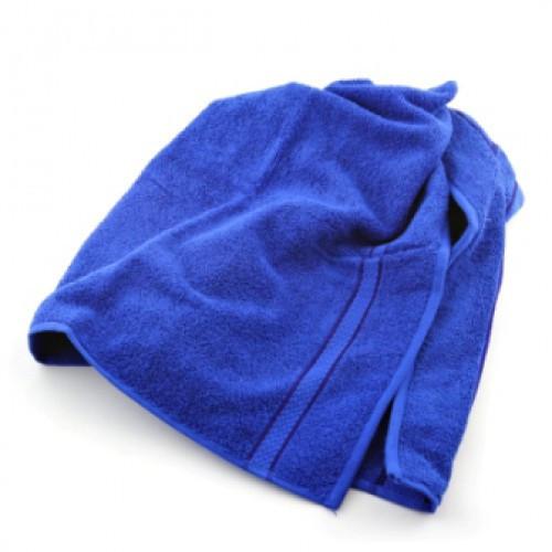Махровое парео на липучке для бани, Luxyart, размер универсальный, синий (LZ-034)