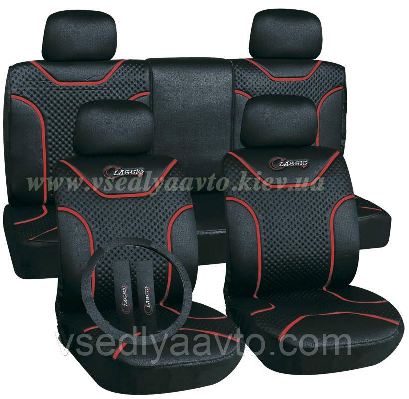 Чехлы на сиденья универсальные MILEX/Classic AG-7262/1 полный к-т/2пер+2задн+5подг/черные