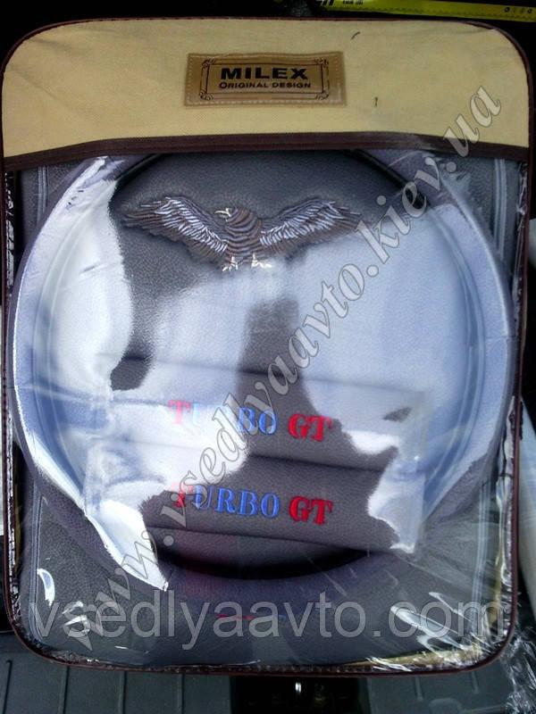 Чехлы на сиденья универсальные MILEX/GT Turbo (Eagle) полн к-т/2пер+2задн+5подг+опл+2накл.ремн.без/сер
