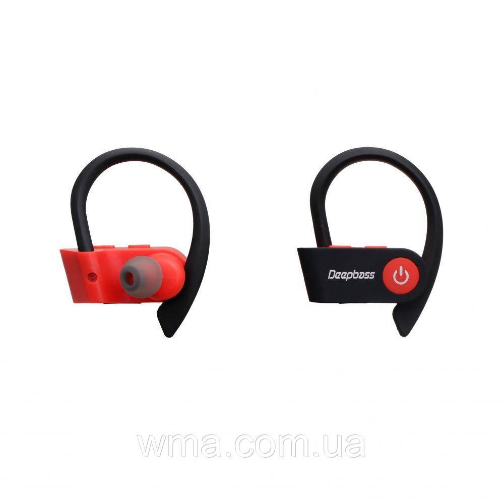 Наушники беспроводные Блютуз Стерео Гарнитура (TWS Bluetooth) DeepBass TWS Q03 Цвет Красный