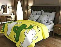 Двуспальное постельное бязь 100% хлопок Кактус