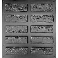 КИРПИЧ ВЕНЕЦИАНСКИЙ- набор форм 0,36 м²; формы для декоративной плитки под классический кирпич, фото 1