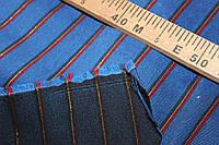 Ткань бенгалин растяжение по долевой полоса красная+золот. №322, фото 1