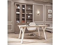 Обеденный стол Уно 160х80 Белый бархат/Аляска (Металл дизайн)