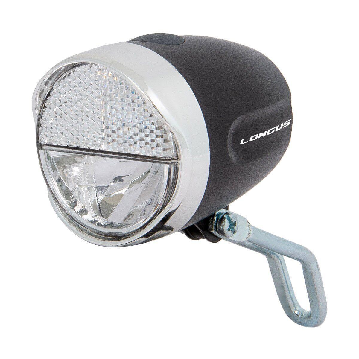 Світло переднє Longus FRONT 1W LED 2 ф-ції, чорний