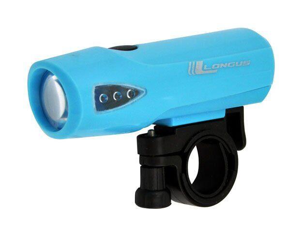 Світло переднє Longus1W LED 3 ф-ції блакитний