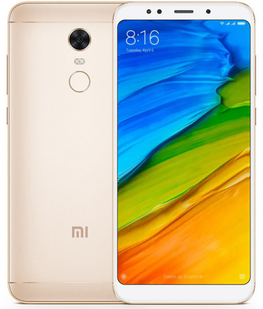 "Смартфон Xiaomi Redmi5 Plus 4/64Gb Gold EU 5.99"" RAM: 4Gb ROM:64Gb Octa-core Unlocked"