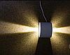 Настенный светодиодный светильник DH013 2х3W белый с регулируемым углом свечения IP54 Код.59721, фото 4