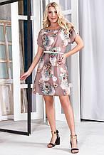 Платье 628 бежевое