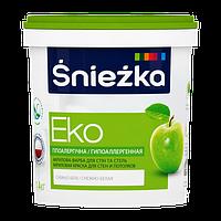 Краска Sniezka EKO гипоаллергенная акриловая краска для стен и потолков 1л (1.4кг)