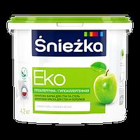 Краска Sniezka EKO гипоаллергенная акриловая краска для стен и потолков 3л (4.2кг)