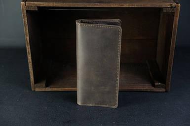 Кошелек клатч Лонг на 8 карт Винтажная кожа цвет Шоколад