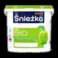 Краска Sniezka EKO гипоаллергенная акриловая краска для стен и потолков 5л (7кг)