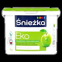 Краска Sniezka EKO гипоаллергенная акриловая краска для стен и потолков 10л (14кг)