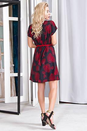 Платье 628 черное с красным, фото 2