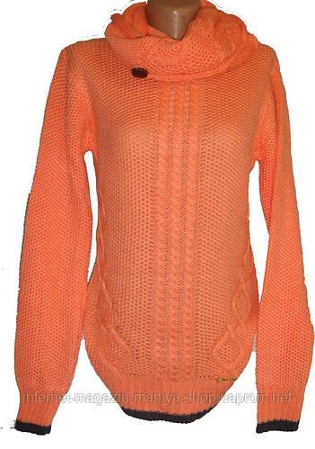 Женский свитер съемный хомут