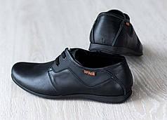 Мужские кожаные туфли на шнурке
