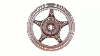 Диск колеса 2,50 * 10 (зад, барабан) (легкосплавный, 19 шлицов) EVO