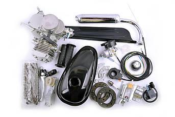 Двигатель (В сборе)  велосипедный (в сборе) 80 см³ (мех.старт., бак, ручка газа, звезда, цепь, ) EVO