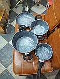 Набір посуду 7 предметів з гранітним покриттям Benson BN-577, фото 4