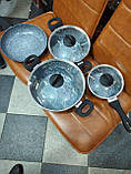 Набір посуду 7 предметів з гранітним покриттям Benson BN-577, фото 2