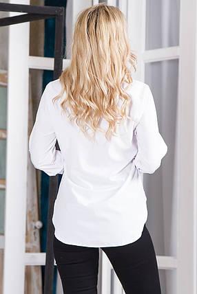 Блузка 629 белая, фото 2