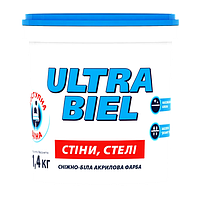 Sniezka ULTRA BIEL снежно-белая акриловая краска для стен и потолков 1л (1.4кг)
