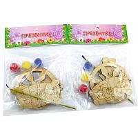 НР Дерев''яна розмальовка Новорічний Подаруночок: Прикраси на ялинку №2 Криса, сніжинка,сніговик *