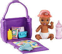 Барби пупс младенец Barbie Skipper Babysitters Inc. Feeding and Changing Playset with Color-Change Baby Doll GHV86