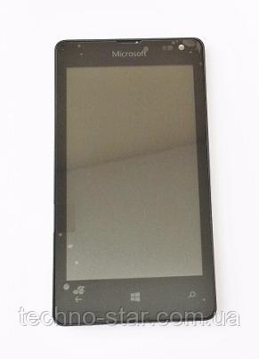 Оригинальный дисплей (модуль) + тачскрин (сенсор) с рамкой для Microsoft Lumia 435 | RM-1069