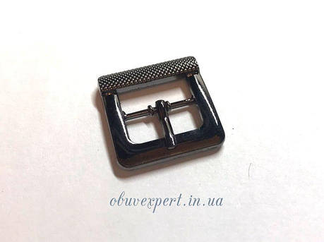 Пряжка 14 мм Чорний нікель, фото 2