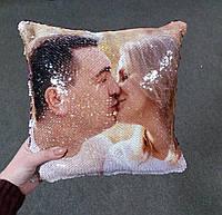 Друк на подушці з пайеткой