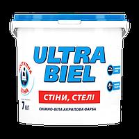 Sniezka ULTRA BIEL снежно-белая акриловая краска для стен и потолков 5л (7кг)