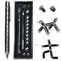 Набор магнитная ручка конструктор Polar Pen + стилус (Черная) (PP100B)