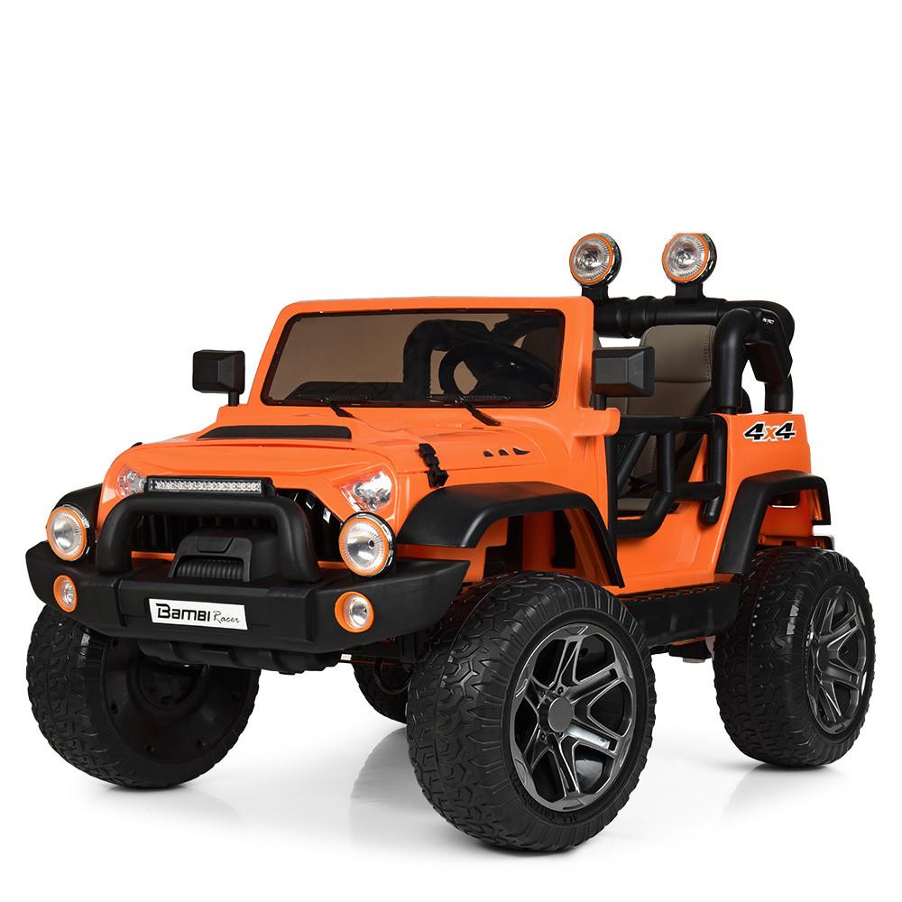 Электромобиль Джип M 4111EBLR-7 оранжевый BAMBI