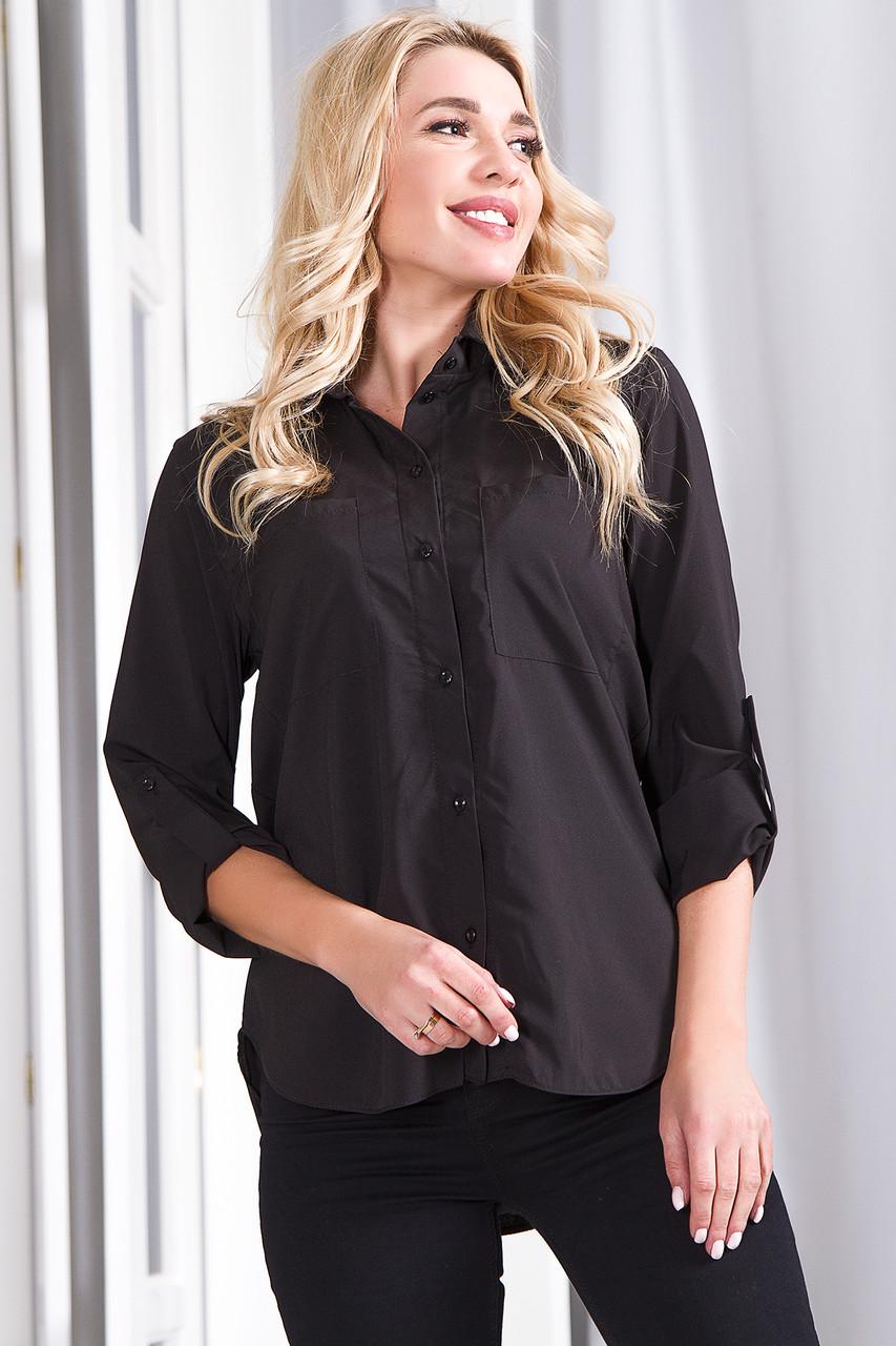 Блузка 629 черная