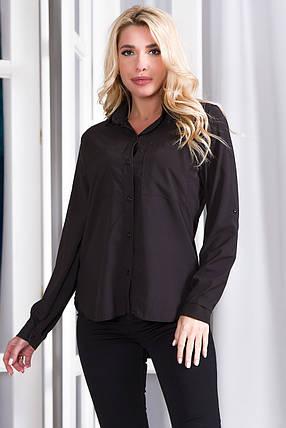 Блузка 629 черная, фото 2