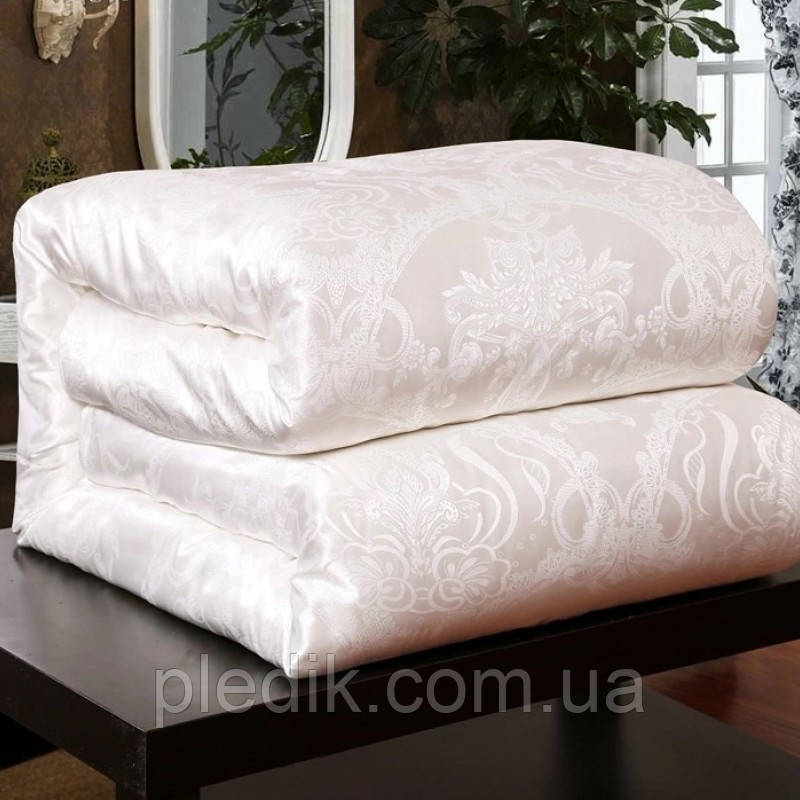 Одеяло шелковое 200х220 2шт. на кнопках OKAY (Китай) белое