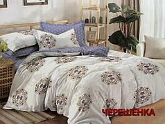 Семейный набор хлопкового постельного белья из Сатина №387AB Черешенка™