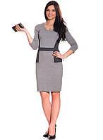 Трикотажное женское платье серого цвета (XS-2XL), фото 1