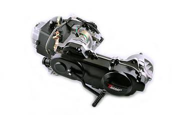 Двигатель (В сборе)  на Китайский Скутер 4Т 4-х тактный (Gy6) 80 см³ (139QMA, длинный) (12 колесо) EVO